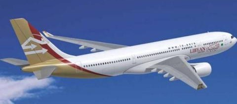 Libyan airline plane