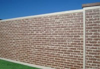Brick Wall Panels | AFTEC Concrete Fence Forming Systems