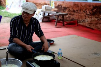 the head farmer, Beyoungsu Kim, made us dinner himself.