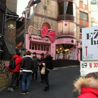 Hello Kitty Cafe, Hongdae (haven't actually been there)