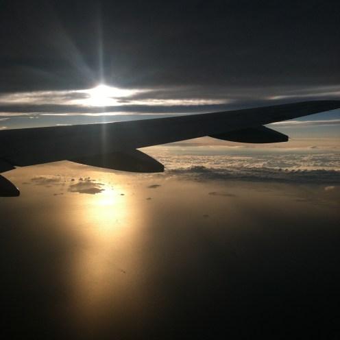 flying back.