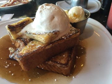 bananas foster French toast from the Tropics Bar and Grill.