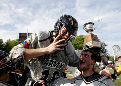Army celebrates its first Patriot League Lacrosse Championship Sunday.
