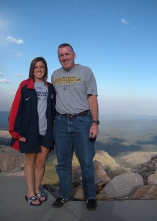 Kelly, left, and Army Col. John McHugh at Mt. Evans, Colo., in 2009 (Photo courtesy of Kelly McHugh)