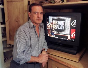 Tony Verna, the instant replay pioneer shown here posing for a 1999 photo in his home in Pacific Palisades, Calif., died over the weekend at age 81. (Associated Press photo by Chris Pizzello)