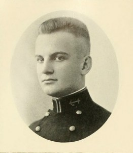 "Willard Ronald ""Nemo"" Gaines, from the U.S. Naval Academy's ""Lucky Bag"" annual in 1921. (Navy photo)"