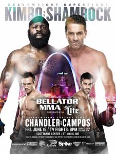 Ken Shamrock vs. Kimbo Slice, nearly seven years after it was supposed to headline a major network TV card, is set for next month in St. Louis and will headline the debut Bellator card to be broadcast on American Forces Network under a deal announced Monday. (Bellator image)