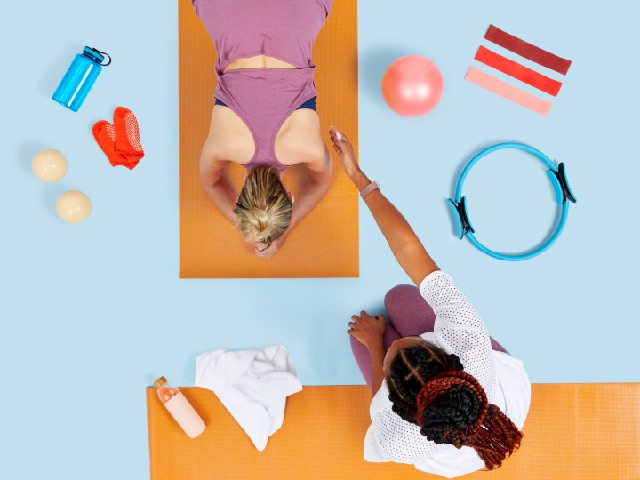 women fitness training