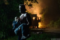 DF-09972 - Hugh Jackman as Logan/Wolverine and Dafne Keen as Laura in LOGAN. Photo Credit: Ben Rothstein.