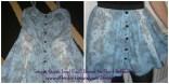 Denim dress to flippy skirt