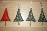 Christmas Tree Decorations with Cinnamon Stick Trunks