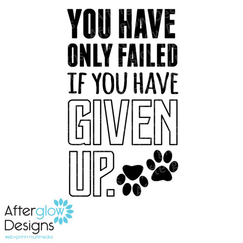 You have only failed if you have given up