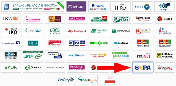 płatności z zagranicy
