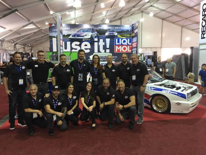 The LIQUI MOLY team at the SEMA Show in Las Vegas.