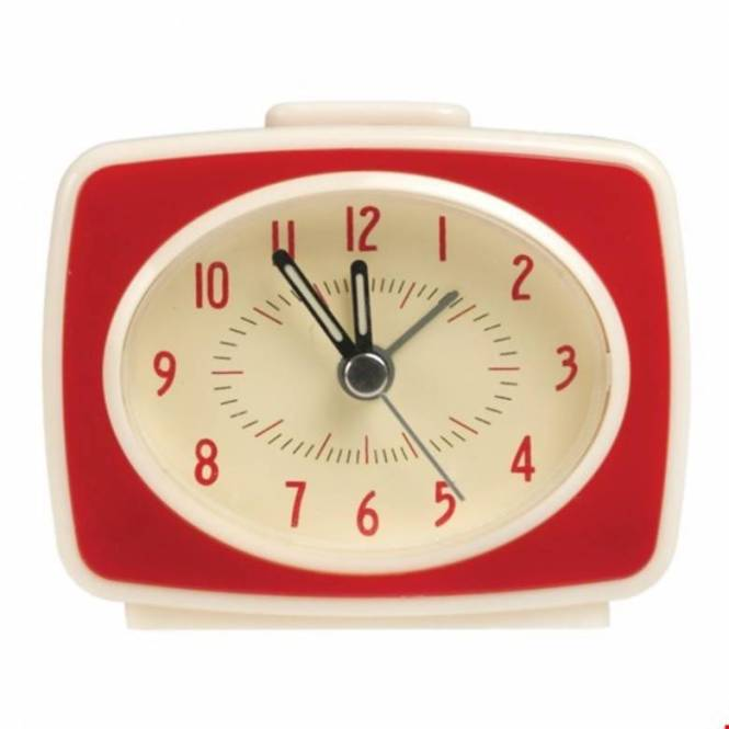 Red Alarm Clock Vintage Style Tv