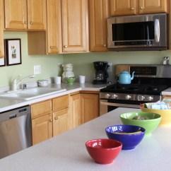 New Kitchen Appliances Black Slate Floor Tiles Afternoon Artist