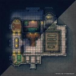 Battlemap D&d Cabin Map 2