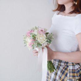 Mini Fresh Bridal Bouquet by AFTERRAINFLORIST