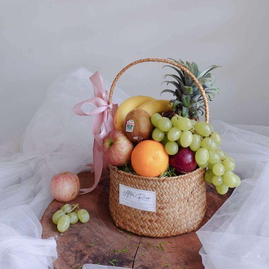 Healthy Gift Best Wishes Fresh & Healthy Fruit Basket gift by AfterRainFlorist, PJ Florist, KL & Selangor(Klang Valley) Flower Delivery Service