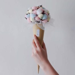Ice Cream Dried Cotton Flower Cone Bouquet by AfterRainFLorist, Pj(Malaysia) Florist,KL & Selangor Flower Delivery Service