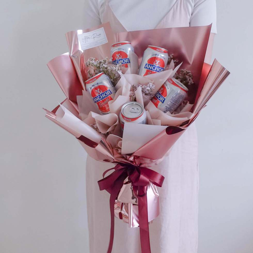Birthday Valentine's Day VDAY For Men Flower & Gift Anchor Beer Bouquet by AfterRainFLorist, PJ (Malaysia) online Florist,KL & Selangor / Klang Valley Flower Delivery Service