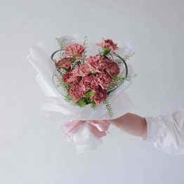 Mother's Day 2021 Hearty Carnation Fresh Flower Bouquet by AfterRainFLorist, PJ (Malaysia) online Florist,KL & Selangor / Klang Valley Flower Delivery Service