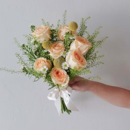 Summer Luxe Champagne Color Bridal Bouquet by AfterRainFLorist PJ Malaysia online Florist KL Selangor Klang Valley Flower Delivery Service