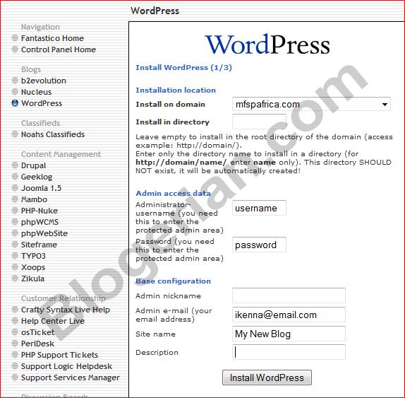 hostgator-wordpress-install