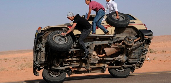 Entrepreneurship is changing a falt tire while the car is still moving