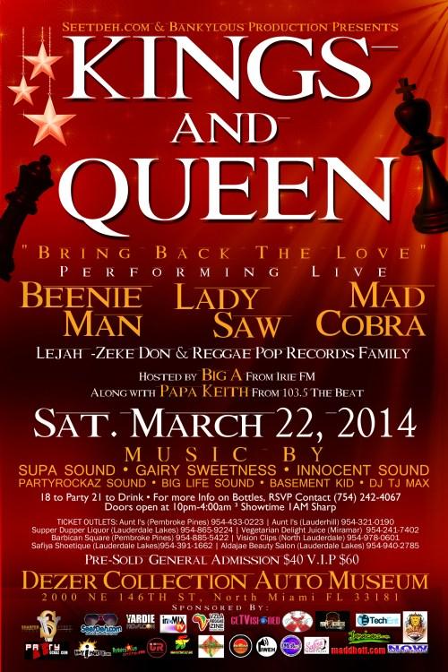 Kings & Queen Flyer Back