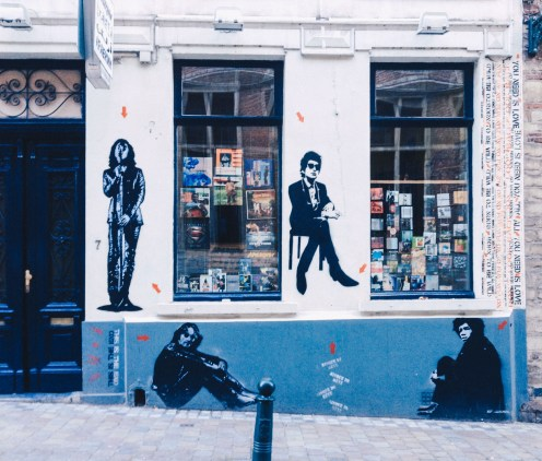 A music shop in Brussels