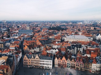 The view from Belfry of Brugge