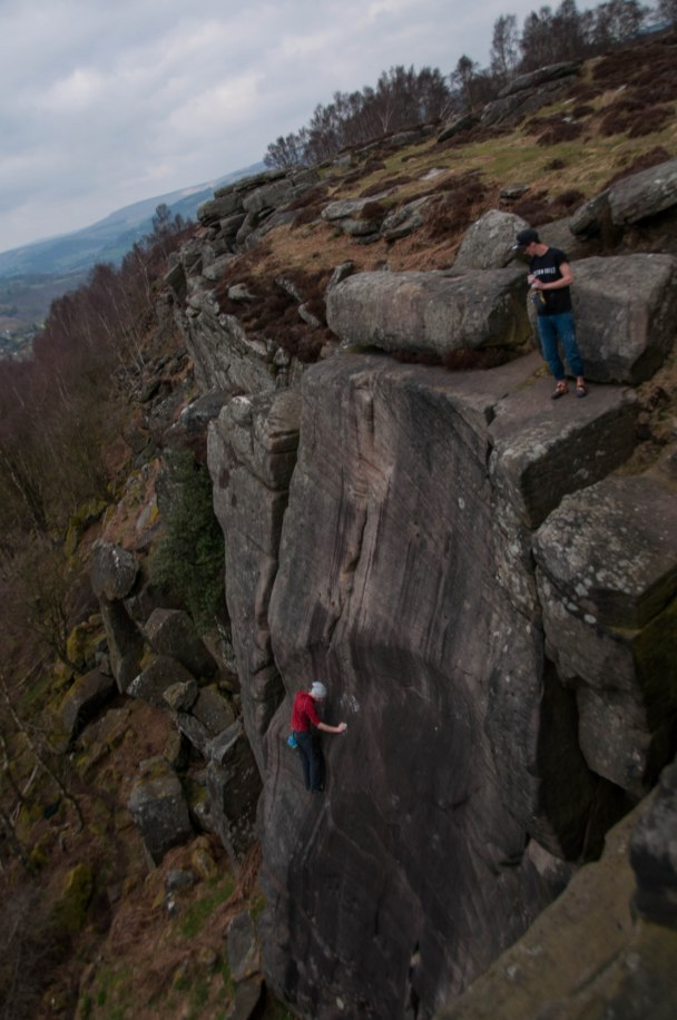Pymn working his way up the unknown slab solo