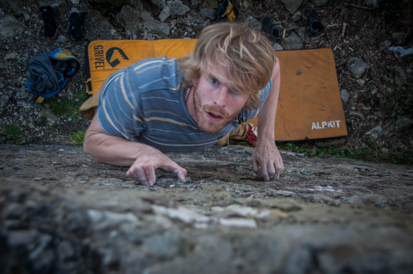 Tom working the crimps.