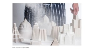 The identifiable skyline jelly moulds. Image courtesy Bompass and Parr