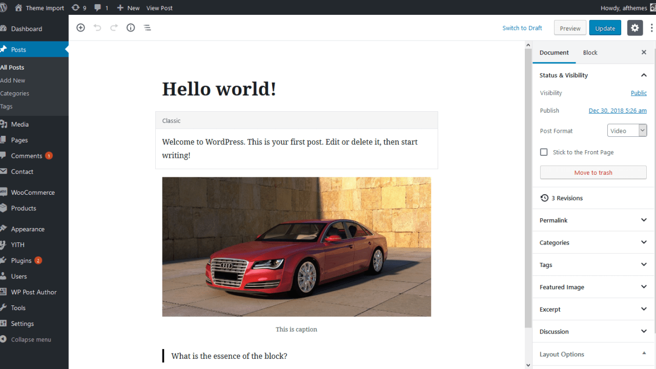 Screenshot_2019-01-29 Edit Post ‹ Theme Import — WordPress