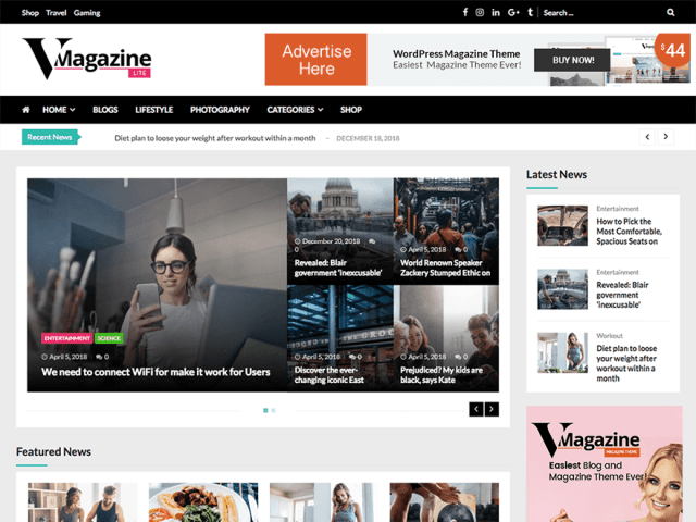 magazine WordPress themes