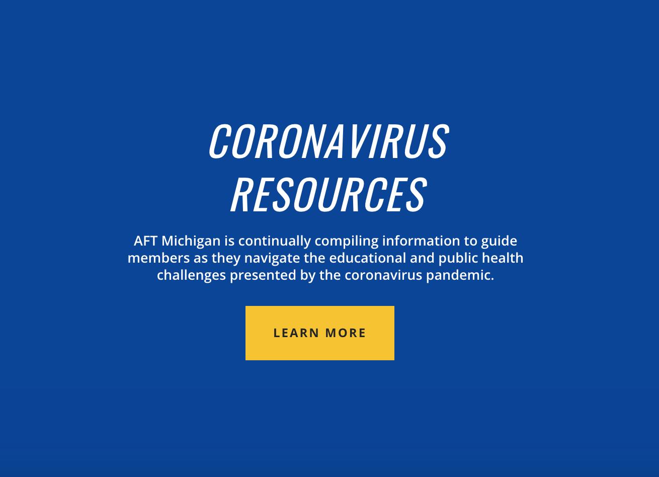 AFT Michigan Coronavirus Updates and Information - AFT Michigan
