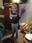 Light Saber and Chainsaw. Four year old dream.