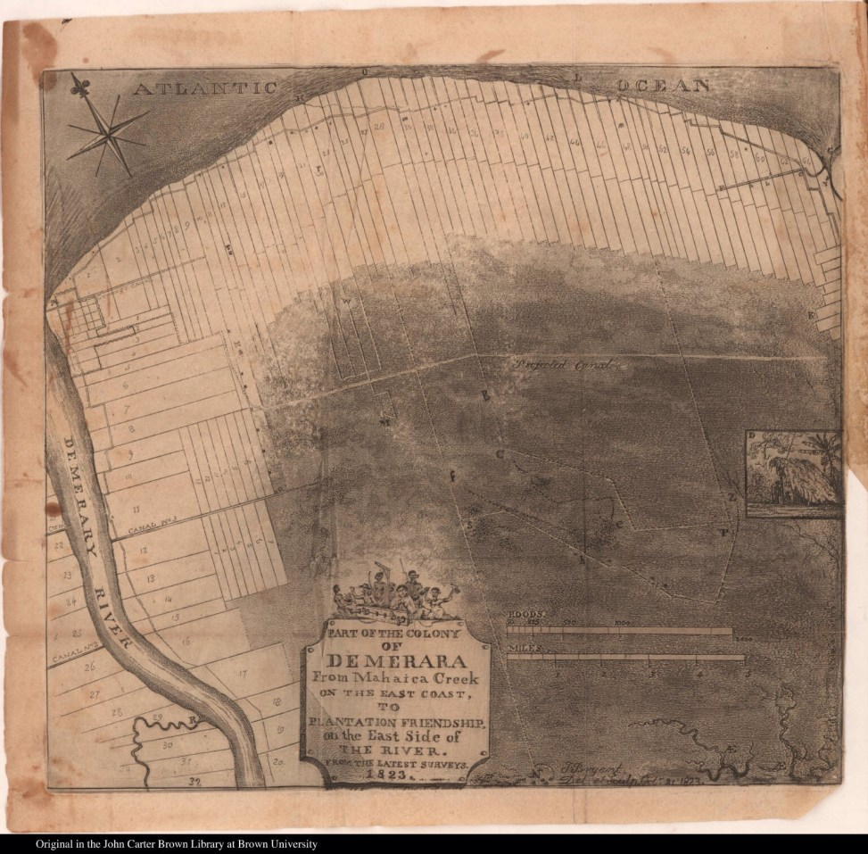 1823 map of Demerara
