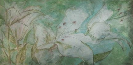 Lilies painting by Afuwa