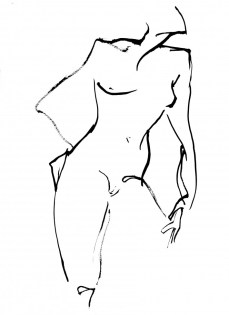 Afuwa Granger Leaning Nude