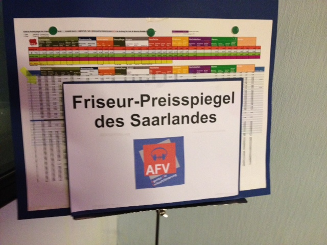 Friseur Preisspiegel des Saarlandes