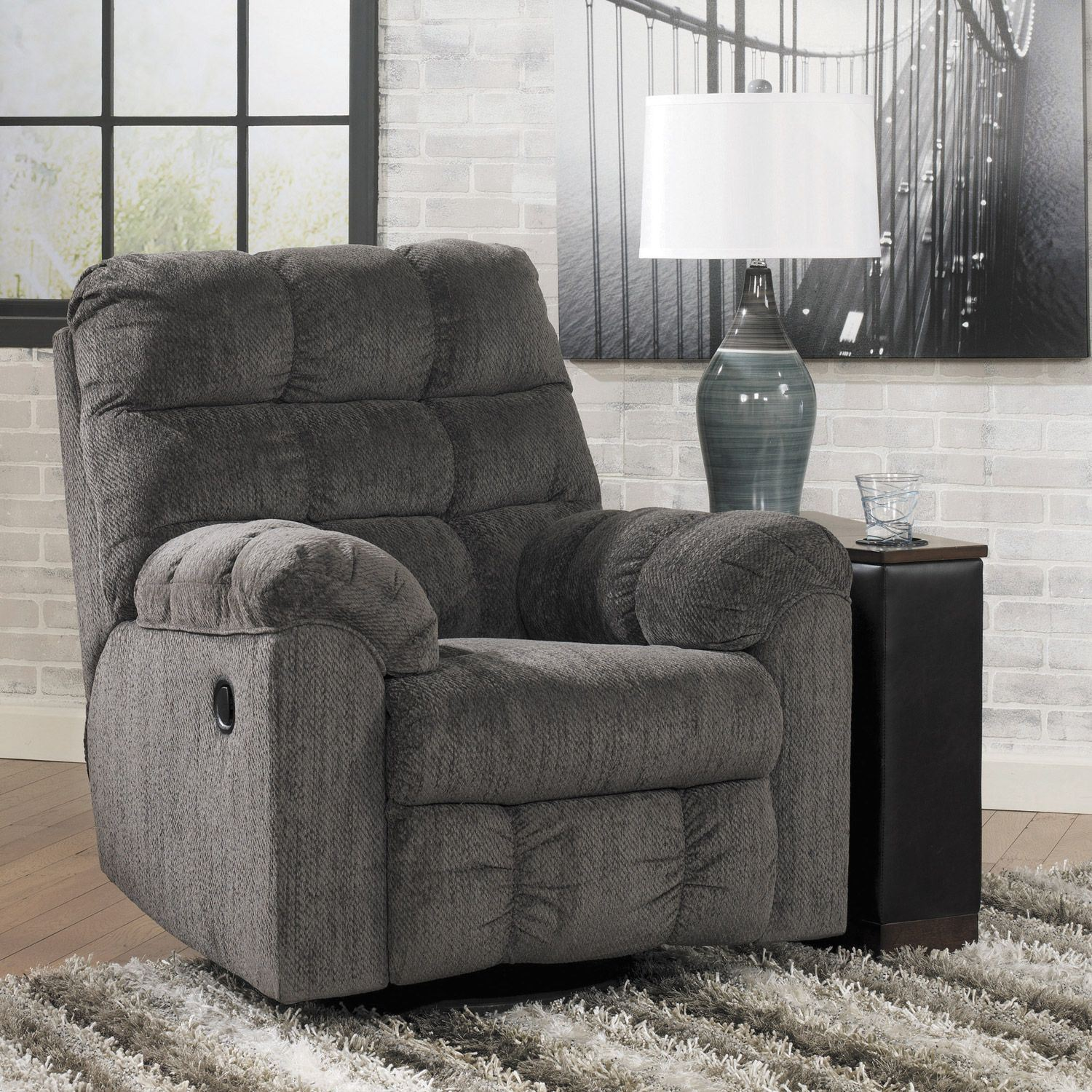 Swivel Rocker Recliner Chair Slate Swivel Rocker Recliner