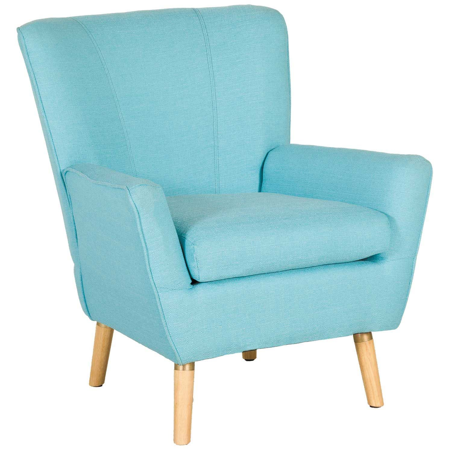 Accent Chair Blue Mara Blue Accent Chair 1g 6020 Modern And Retro Accent