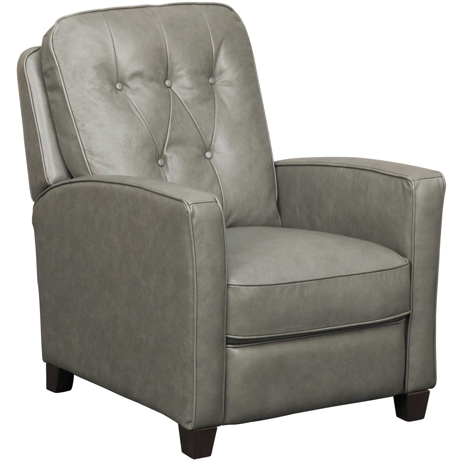 Push Back Chair Quinn Granite Leather Push Back Recliner 1659 86 Livorno