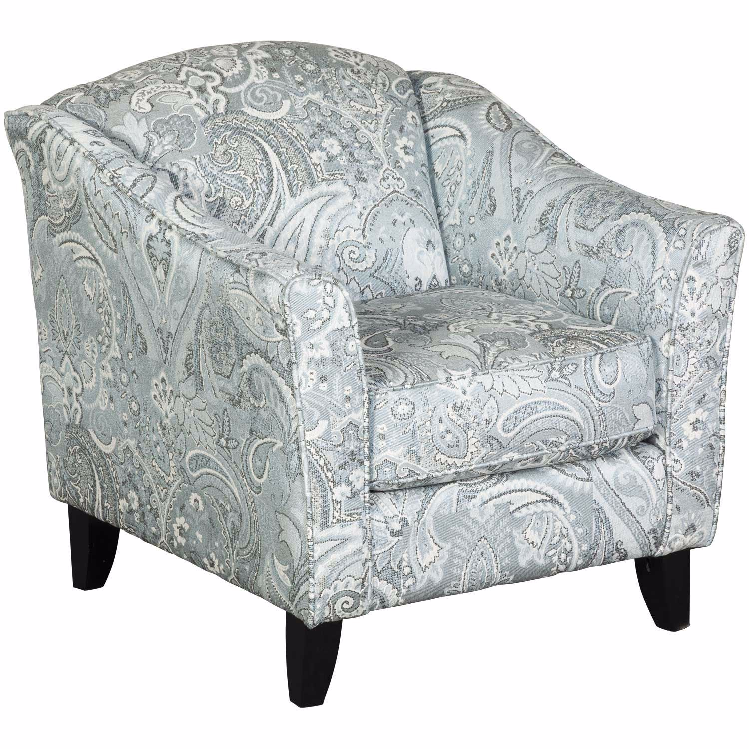 Paisley Chair Hamptons Light Blue Paisley Accent Chair