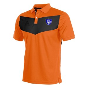 Custom Orange and Black with Center Panel Polo Shirt AFYM-4005
