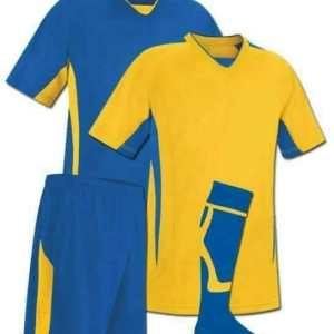 Blue and Yellow Reversible Sublimation Soccer Kit AFYM:11003