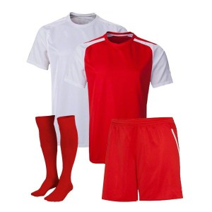 Red and White Reversible Sublimation Soccer Kit AFYM:11005
